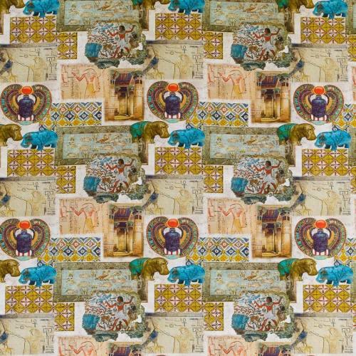 Toile coton impression numérique pharaon égyptien
