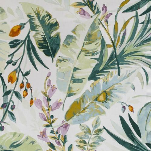 Toile coton impression numérique feuille tropicale