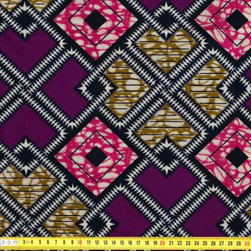 tissu africain geometrique