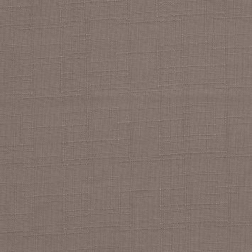 Toile polyester aspect lin taupe