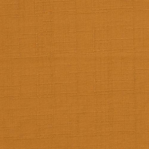 Toile polyester aspect lin orange clair