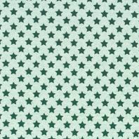 Tissu molleton French Terry chiné vert imprimé étoiles