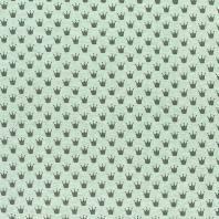 Tissu molleton French Terry chiné vert imprimé couronnes