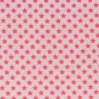 Tissu molleton French Terry chiné rose imprimé étoiles