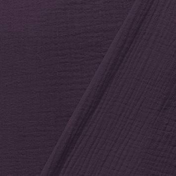 Double gaze unie violette
