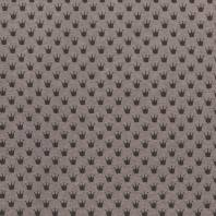 Tissu molleton French Terry chiné marron imprimé couronnes