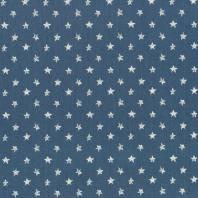 Tissu jean bleu clair motif étoile