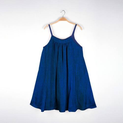 Maille lurex côtelé bleu nuit