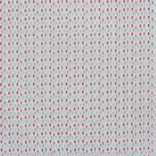 Coton plumi gris et rouge