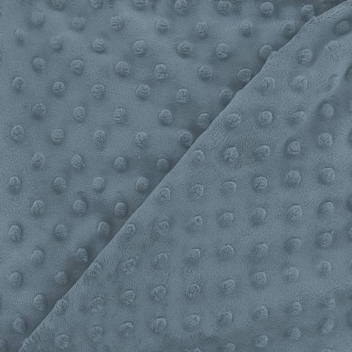 Minky bleu relief pois