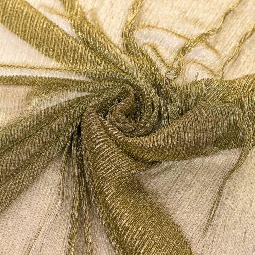 Résille dorée plissée à paillettes