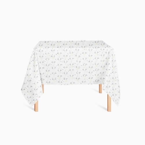 Coton blanc imprimé cerfs géométriques pailletés