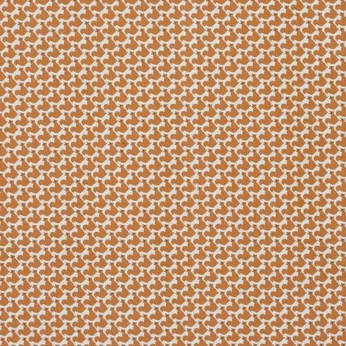 Coton blanc petits écureuils marron