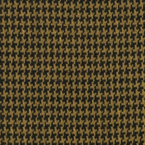 Lainage jaune foncé motif pied de poule noir