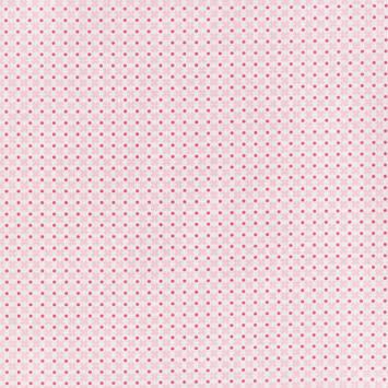 Coton blanc motif croix roses et points fuchsia