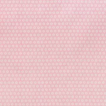 Coton rose motif fleurs sowi
