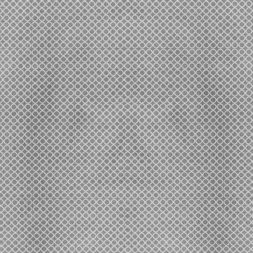 Coton gris motif cercle blanc