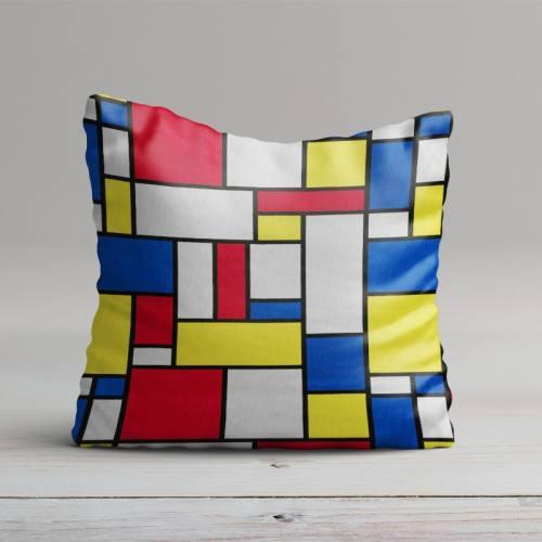 Coton imprimé Mondrian