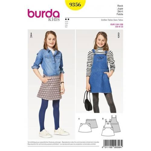 Patron Burda 9356 : Jupe Taille 116-158 cm