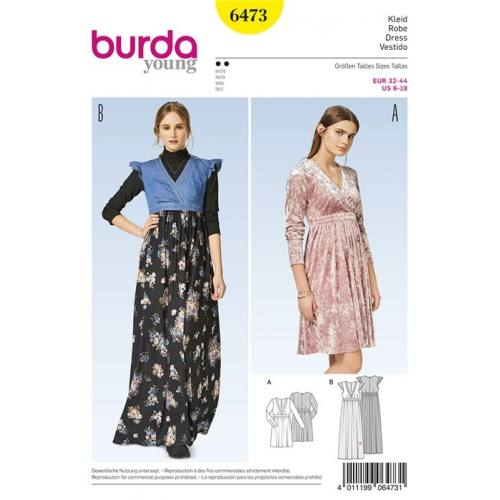 Patron Burda 6473 : Robe Taille 32-44