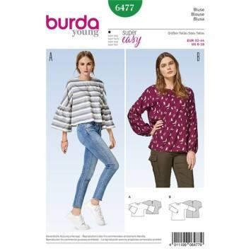 Patron Burda 6477 : Blouse Taille : 32-44