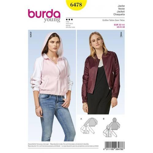 Patron Burda 6478 : Veste Taille 32-44
