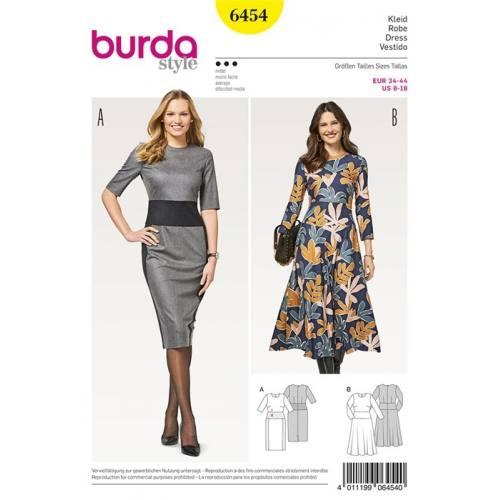 Patron Burda 6454 : Robe Taille 34-44