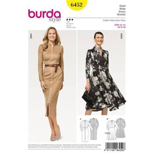 Patron Burda 6452 : Robe Taille 34-44