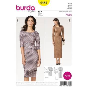 Patron Burda 6485 : Robe Taille : 16-21