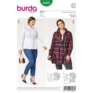 Patron Burda 6488 : Blouse Taille : 44-54