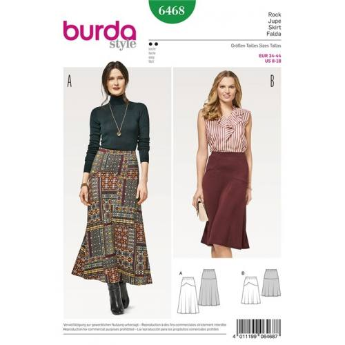 Patron Burda 6468 : Jupe Taille 34-44