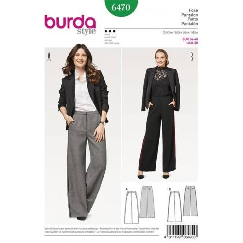Patron Burda 6470 : Pantalon Taille 34-46