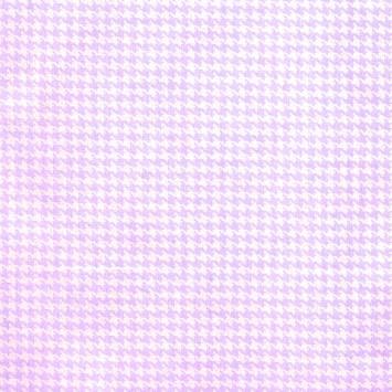 Coton imprimé pied de poule parme