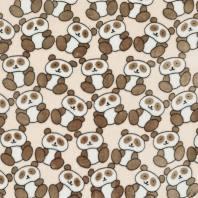 Tissu polaire beige panda marron