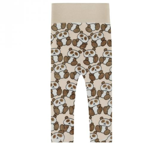 Pyjama tissu polaire beige panda marron