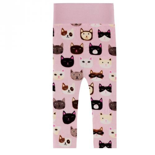 Pyjama tissu polaire rose motif chat