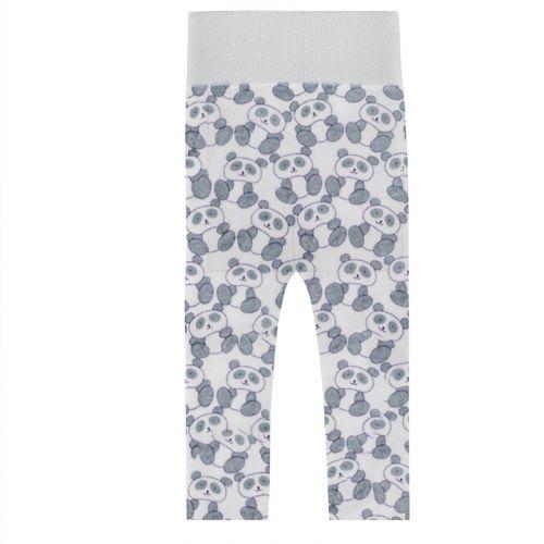 Tissu polaire blanc panda gris