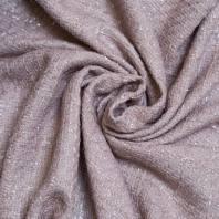Tissu coco effet tweed vieux rose