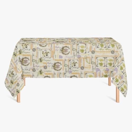 Nappe toile polycoton imprimée provençale grande largeur