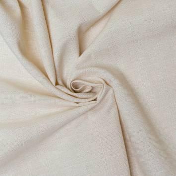 Tissu aspect lin écru pailleté