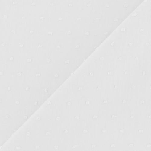 Voile de coton plumetis blanc