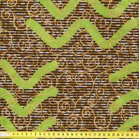 Wax - Tissu africain arabesque pailleté 84