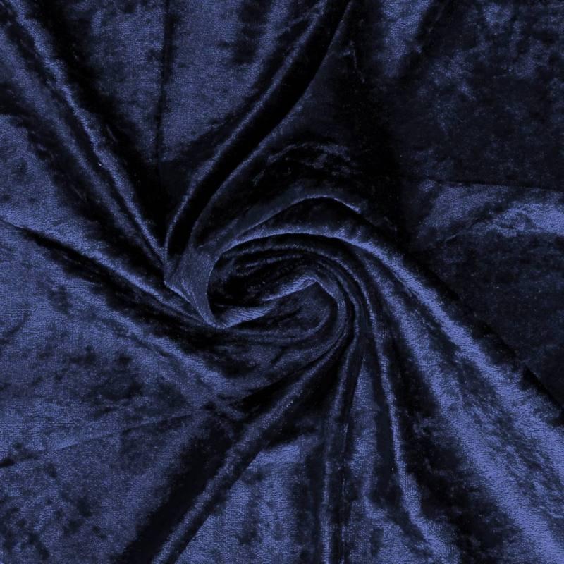 Panne de velours bleu marine