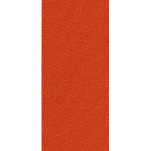 Ruban satin double face orange 66 mm