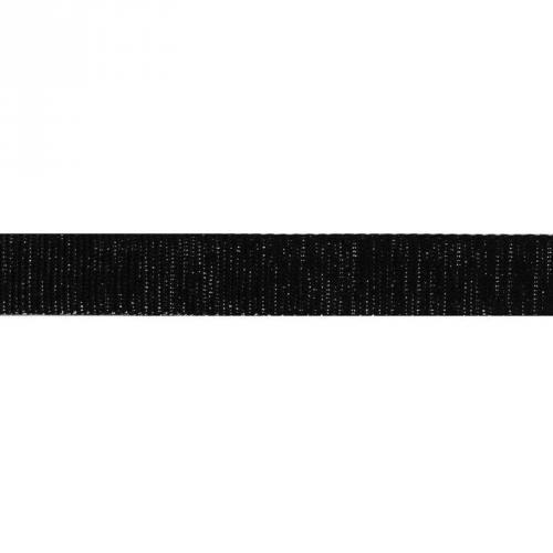 Sangle noire pailletée argent 30 mm