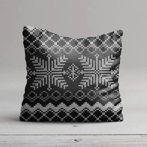 Jacquard gris effet tricot scandinave