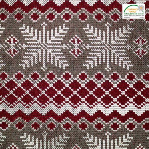 Jacquard rouge motif scandinave