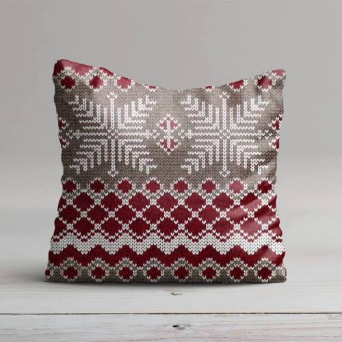 Jacquard rouge effet tricot scandinave