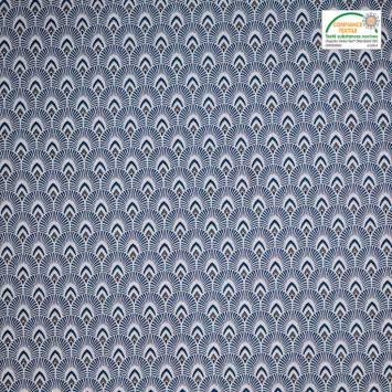 Jacquard bleu motif écaille