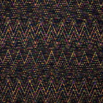 Maille extensible multicolore motif géometrique